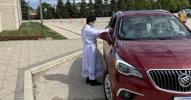 Drive-Through Communion on Sundays image