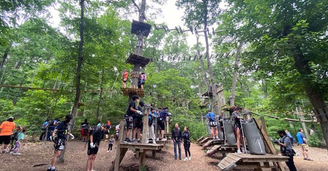 CCD Youth Go Ziplining image