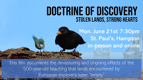 """FILM:  """"Doctrine of Discovery: Stolen lands, Strong Hearts"""""""