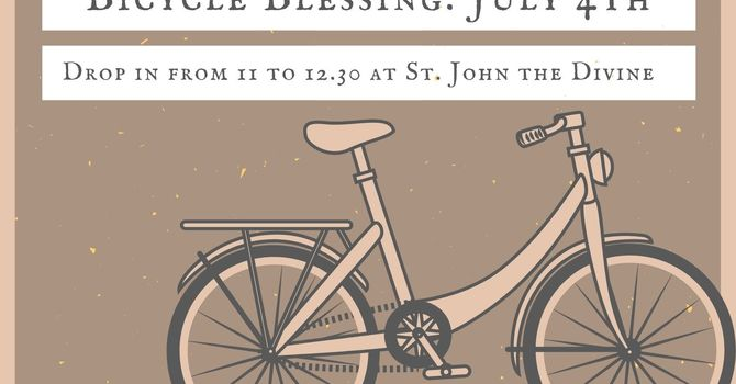 Bicycle Blessing. image