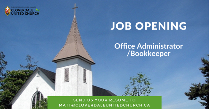 Job Opening - Office Administrator/Bookkeeper image