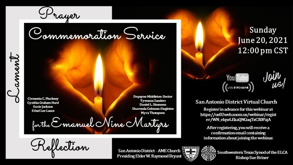 Commemoration Service for the Emanuel Nine Martyrs