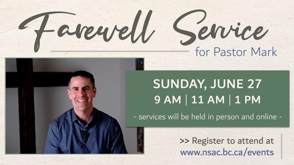 Farewell Service for Pastor Mark