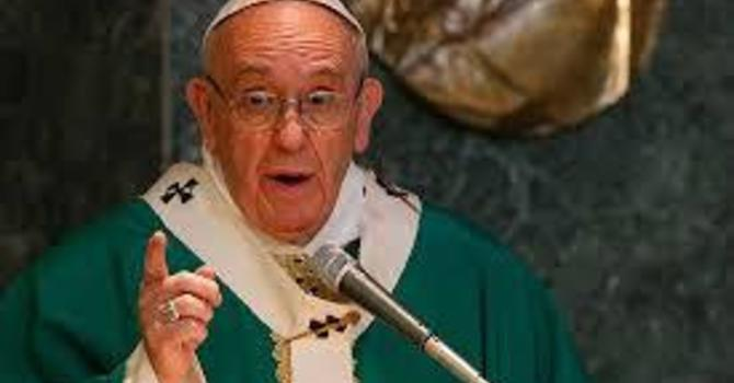 Voir homélie du Pape François - See Pope Francis' Homily  image