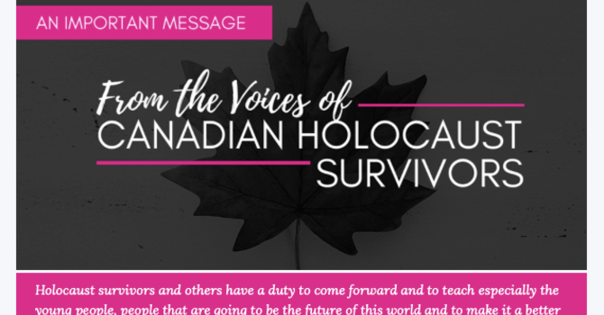 From the voices of Canadian Holocaust Survivors image