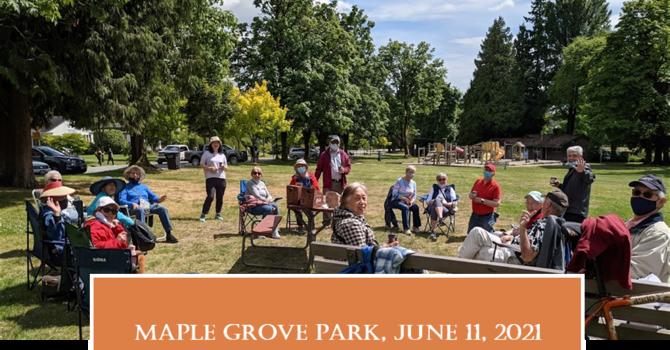 Seniors Exploring Parks Near TBC –Maple Grove
