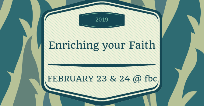 Enriching Your Faith Conference
