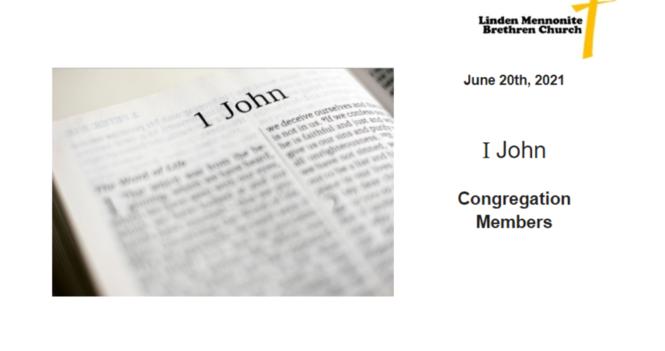 Bulletin for Sunday, June 20th, 2021