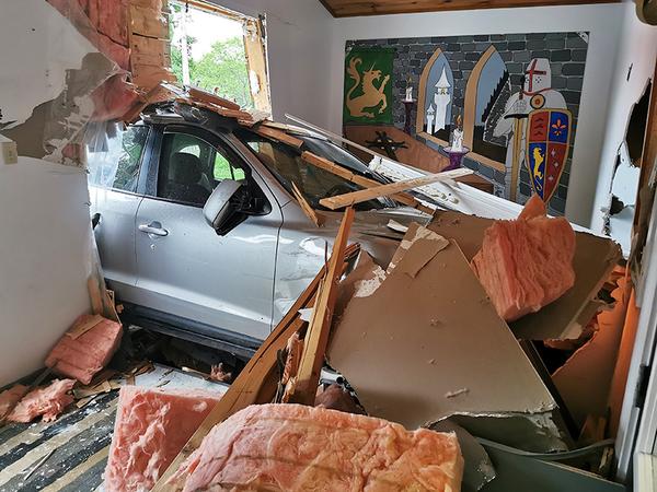 Parish hall damaged in accident