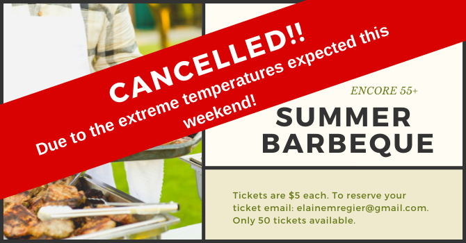 Encore 55 + Summer BBQ CANCELLED image