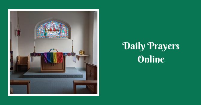 Daily Prayers for Thursday, June 24, 2021 image