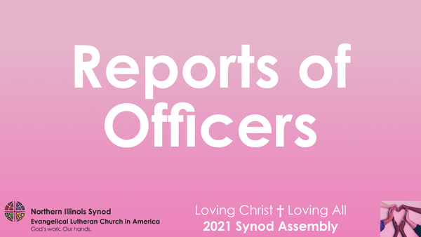 Reports of Staff and Officers