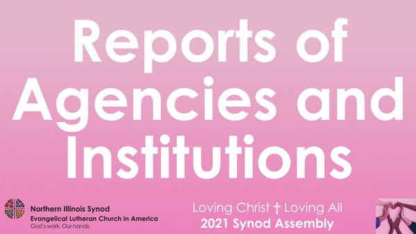 Reports of Agencies and Institutions