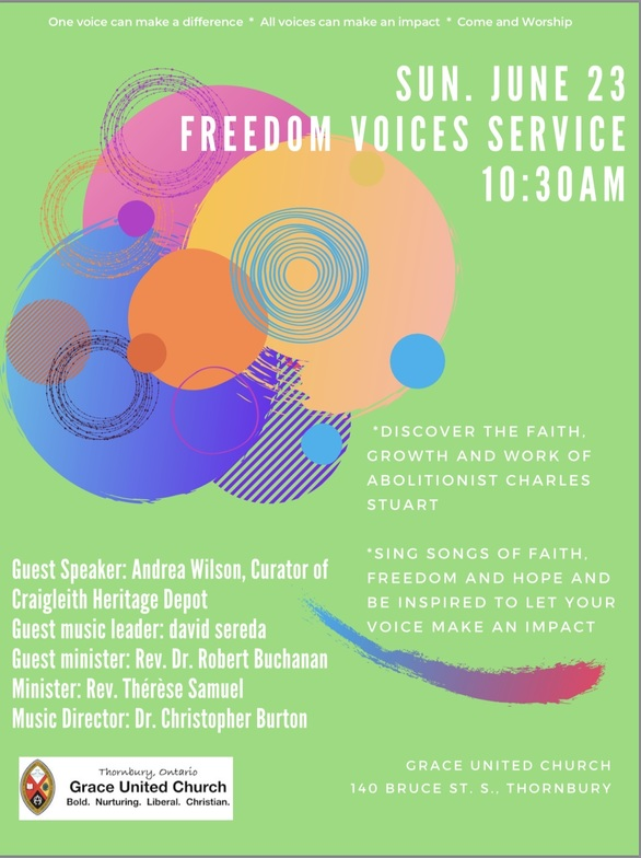 Freedom Voices Worship Service and Luncheon   Sunday Worship   Grace