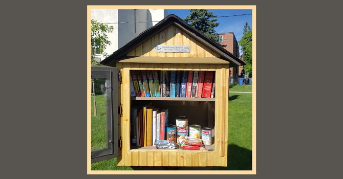 Little Free Library and Parish Pantry