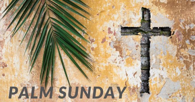 Palm Sunday - Church Gathering Cancelled