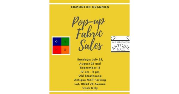 Grandmothers to Grandmothers Pop-up Fabric Sales