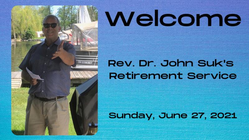 Rev. Dr. John Suk Retires from LPCC