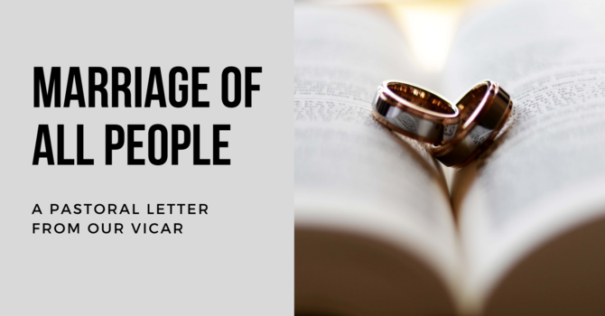 A Word From the Vicar: Marriage of All People image