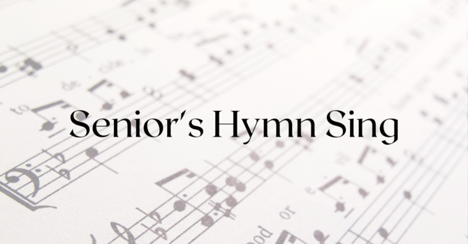 Senior's Hymn Sing