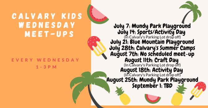 Calvary Kids Wednesday Meet-Ups