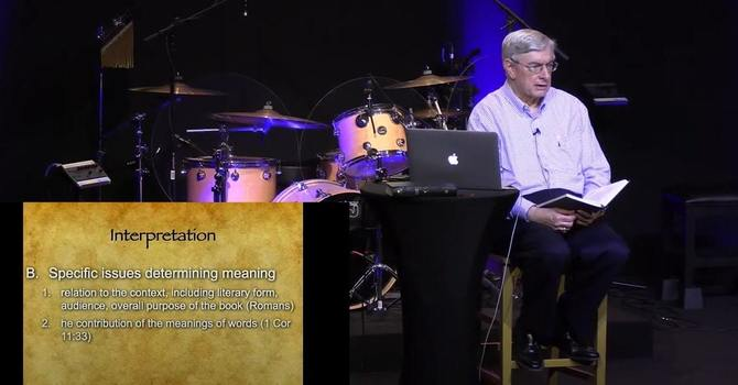 Concluding Beginning in Bible Study - Dr. James E Allman image
