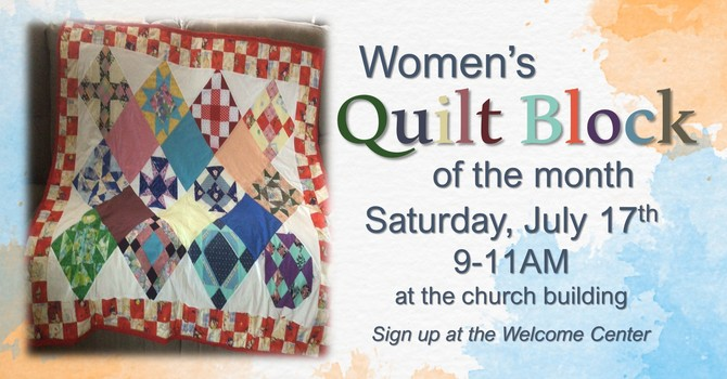 Quilt Block of the Month, Next Date August 14 image
