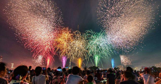 The OB fireworks festival image