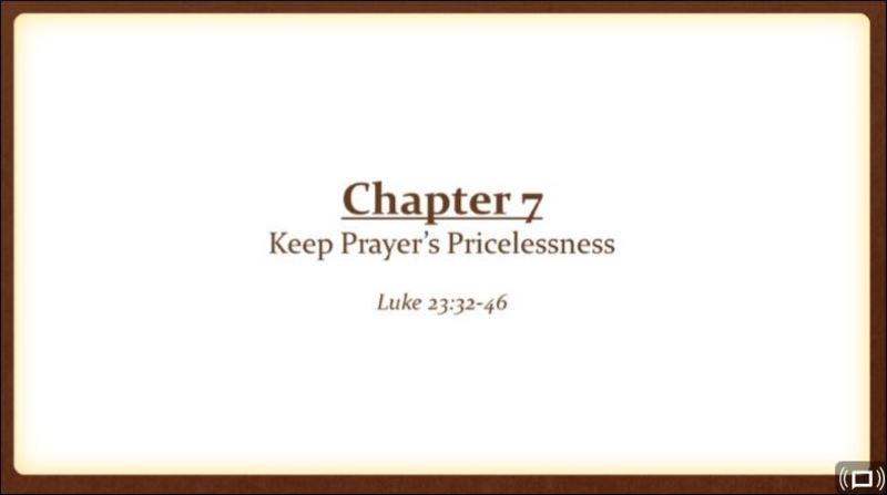 Keep Prayer's Pricelessness