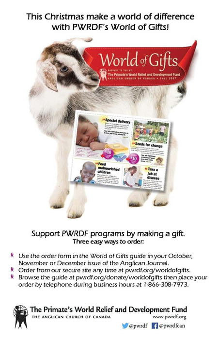 PWRDF World of Gifts Guide and Bulletin Inserts