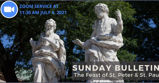 Sunday Bulletin & Zoom Link - July 4, 2021 image