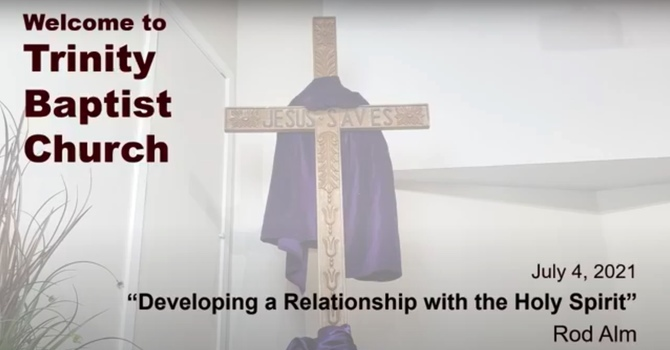 Developing a Relationship With the Holy Spirit