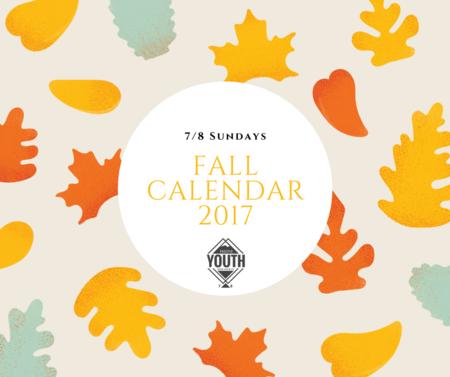 Fall 2017 Calendar