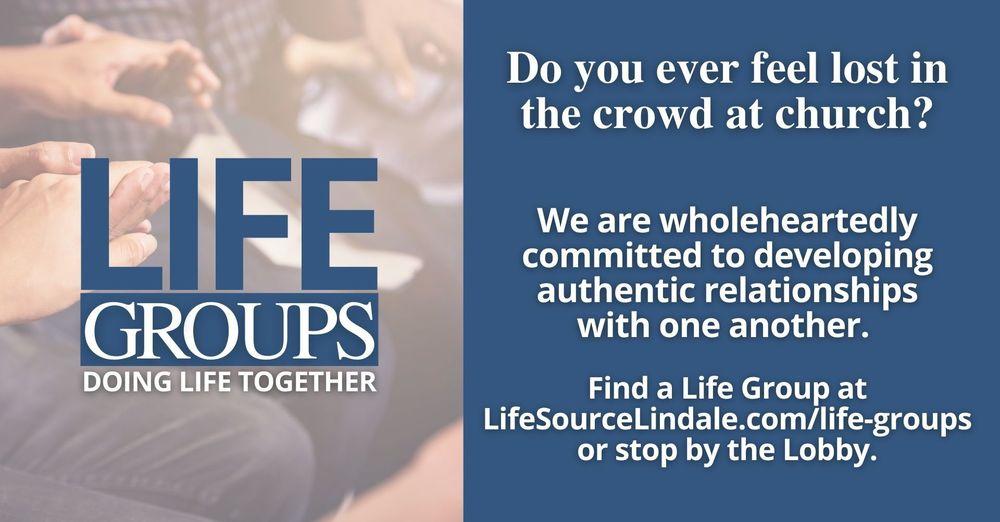 Life Groups...doing life together
