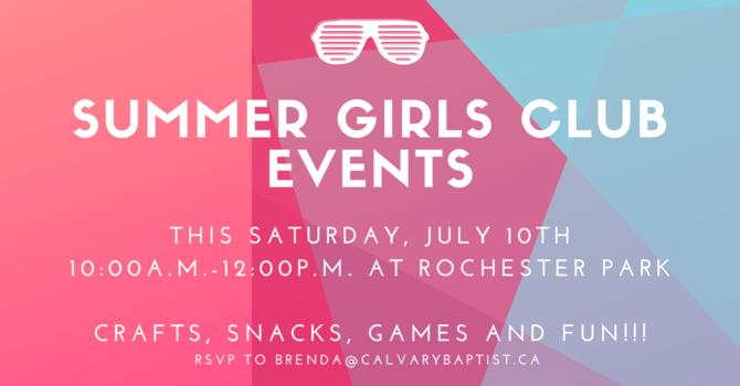 Summer Girls Club Events
