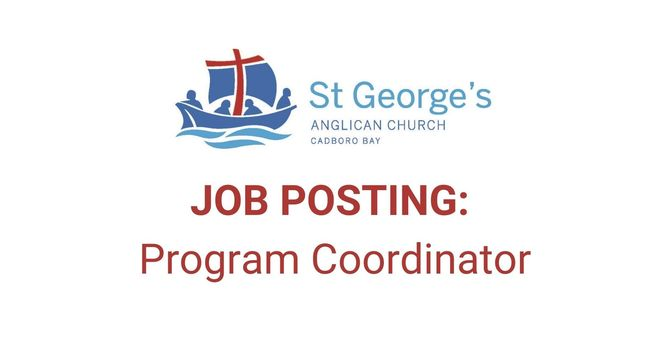 Job Posting: Program Coordinator image