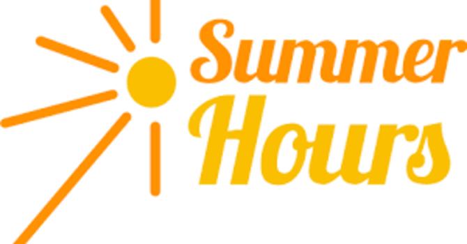 Parish Office Summer Hours image