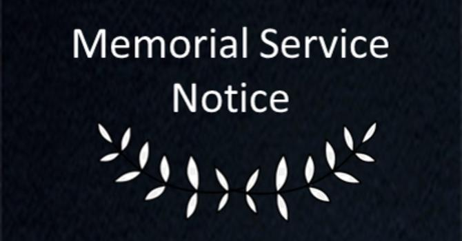 Eleanor Nasar Memorial Service image