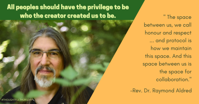 Thoughtful Thursday : The Space Between Us with Rev. Dr. Ray Aldred image