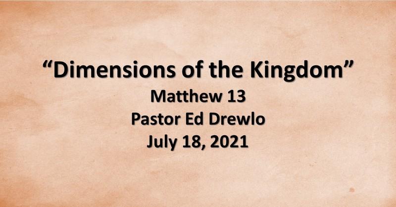Dimensions of the Kingdom