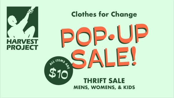 Harvest Project Pop-Up Sale