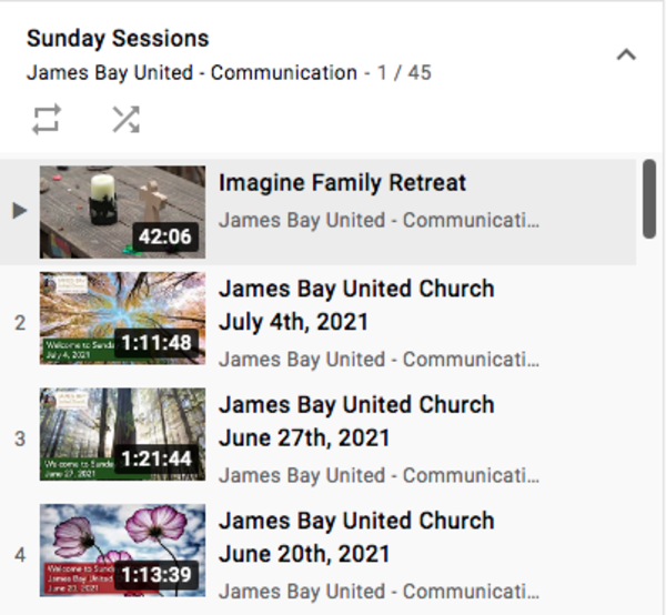 YOUR JBUC YouTube Channel
