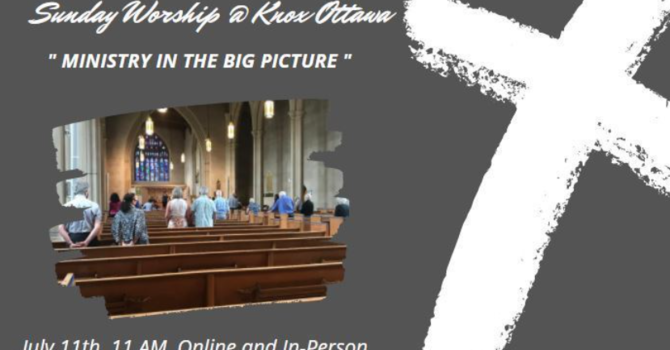 The Big Picture of Ministry
