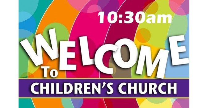 Onsite kids' ministry at 10:30 service