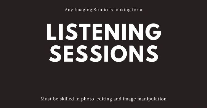 Search for a New Vicar: Listening Sessions image