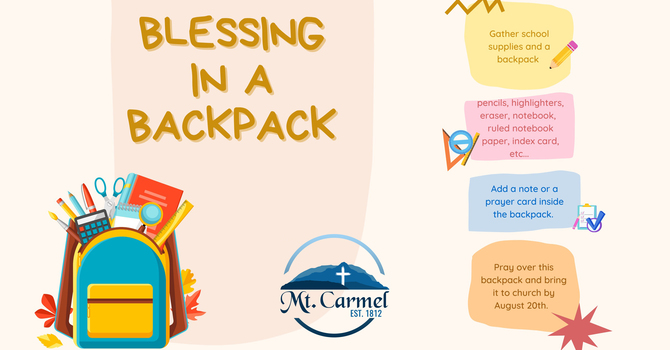 Blessing in a Backpack