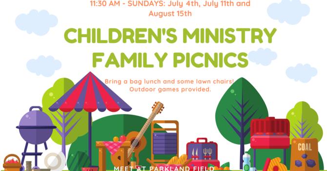 Children's Ministry Family Picnics