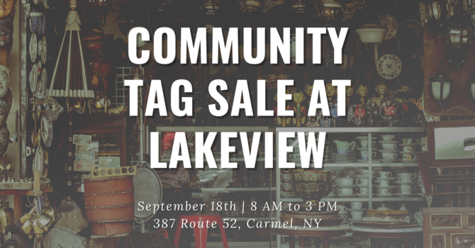 Community Tag Sale at Lakeview