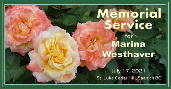 Memorial Service for Marina Westhaver - Recorded Service Is Now Available image