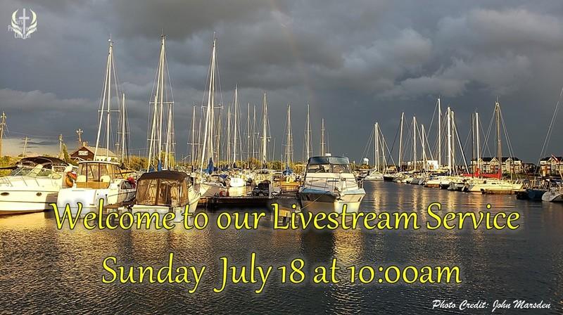 Sunday July 18 Livestream Service